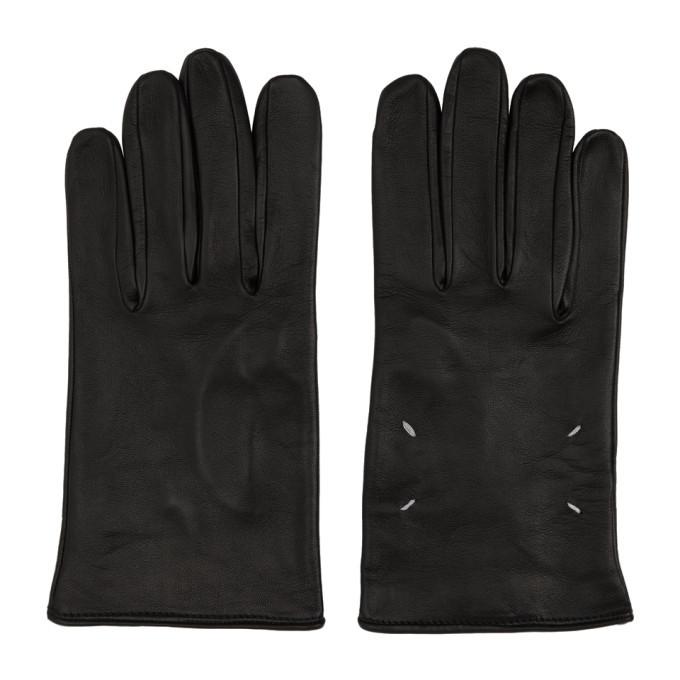 Photo: Maison Margiela Black Leather Gloves