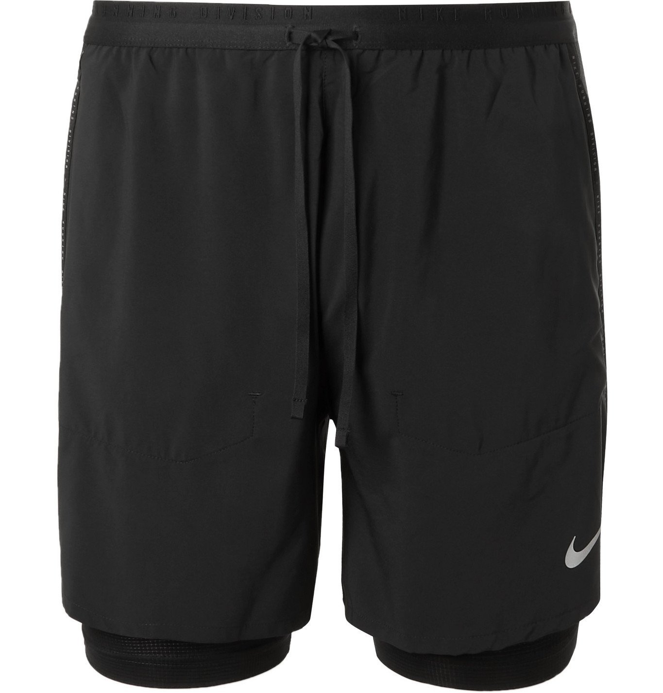 Nike Running - Flex Stride Slim-Fit Layered Dri-FIT Shell Running Shorts - Black