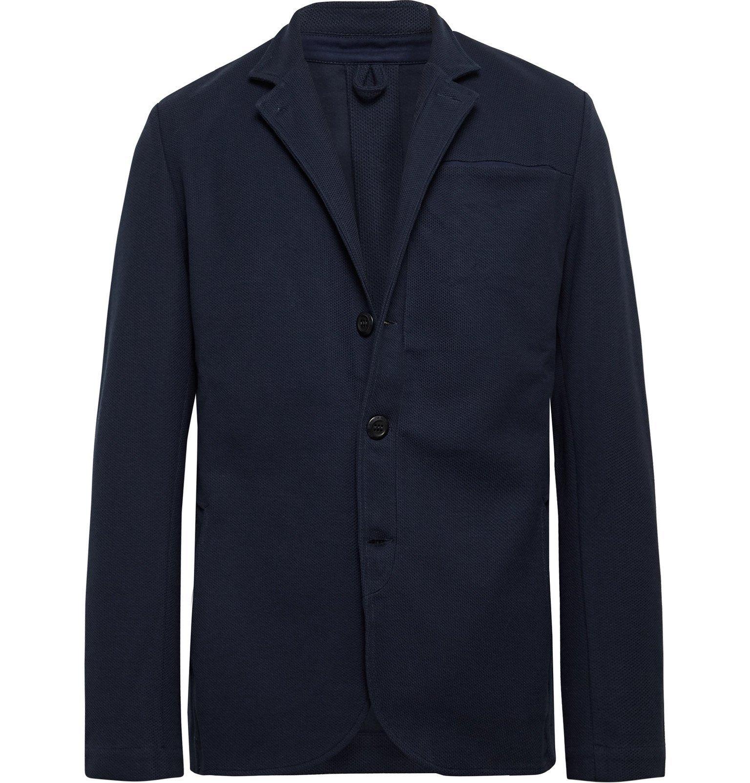 Photo: Hamilton and Hare - Journeyman Cotton-Piqué Jacket - Blue