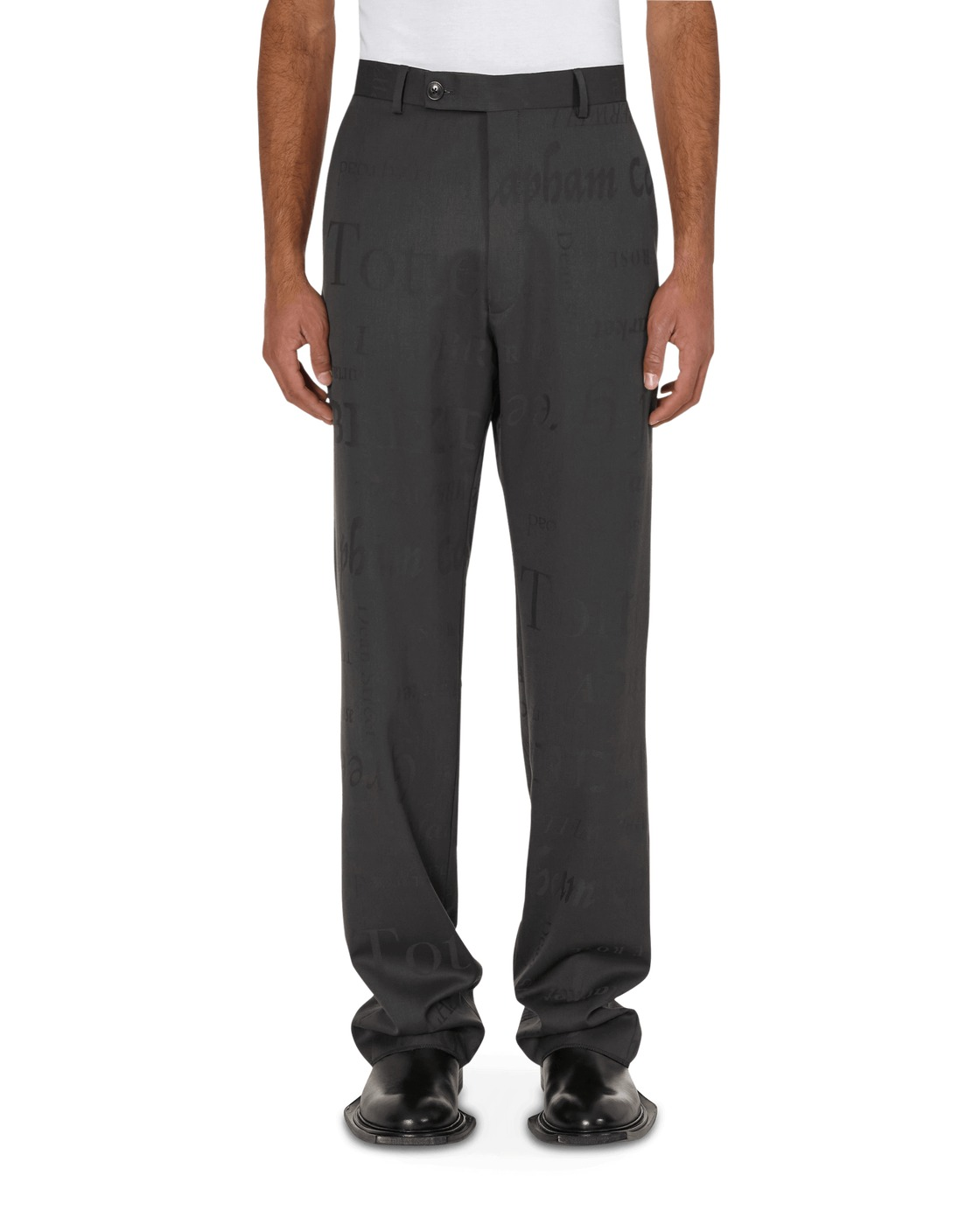 Martine Rose Straight Tailored Trousers Grey