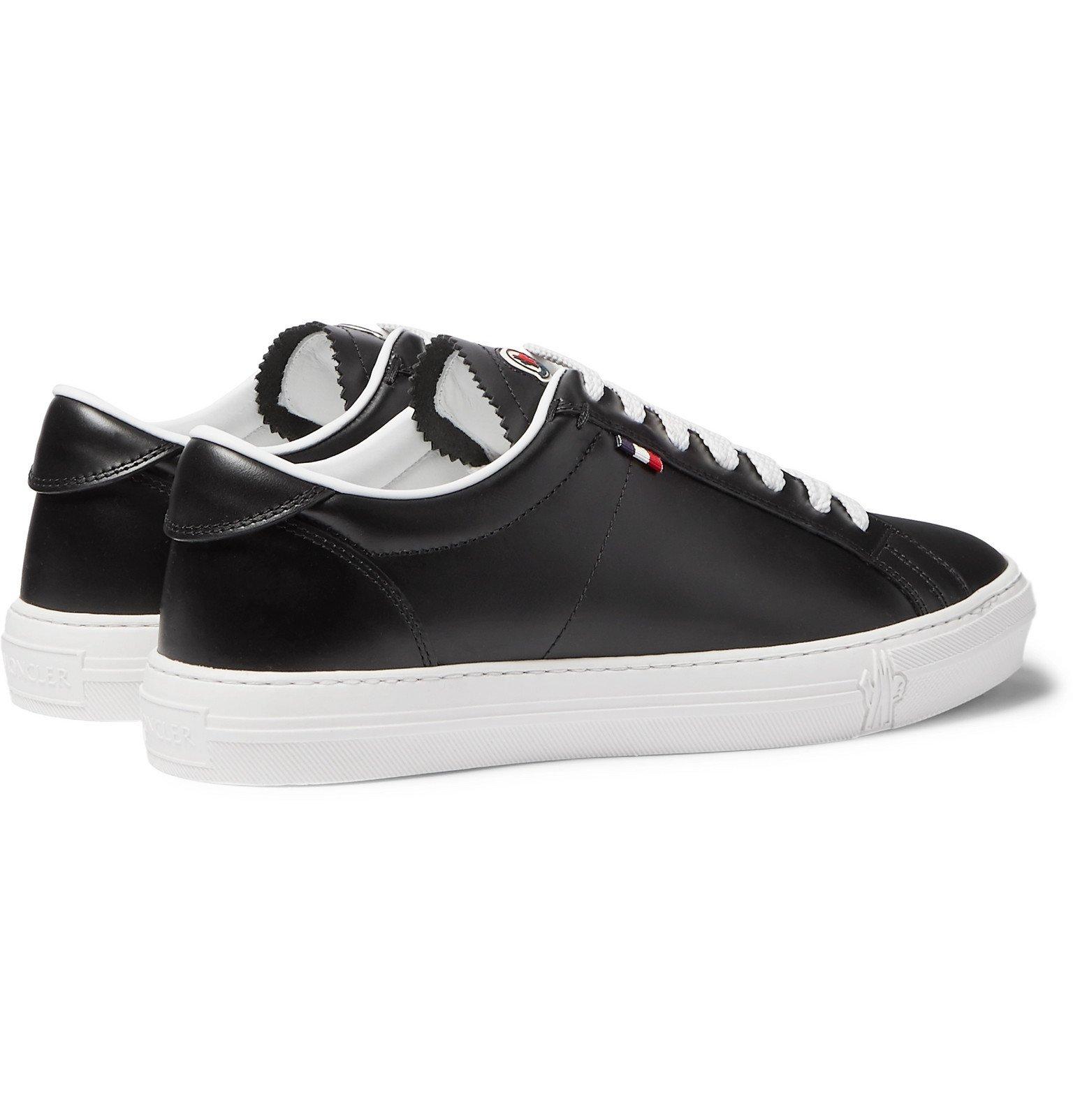 Moncler - Monaco Leather Sneakers - Black