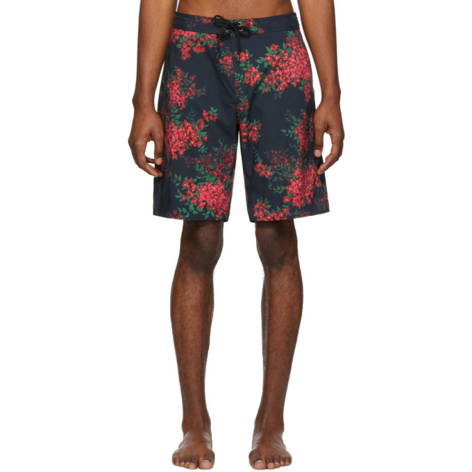 Photo: John Elliott Black Bougainvellea Board Shorts
