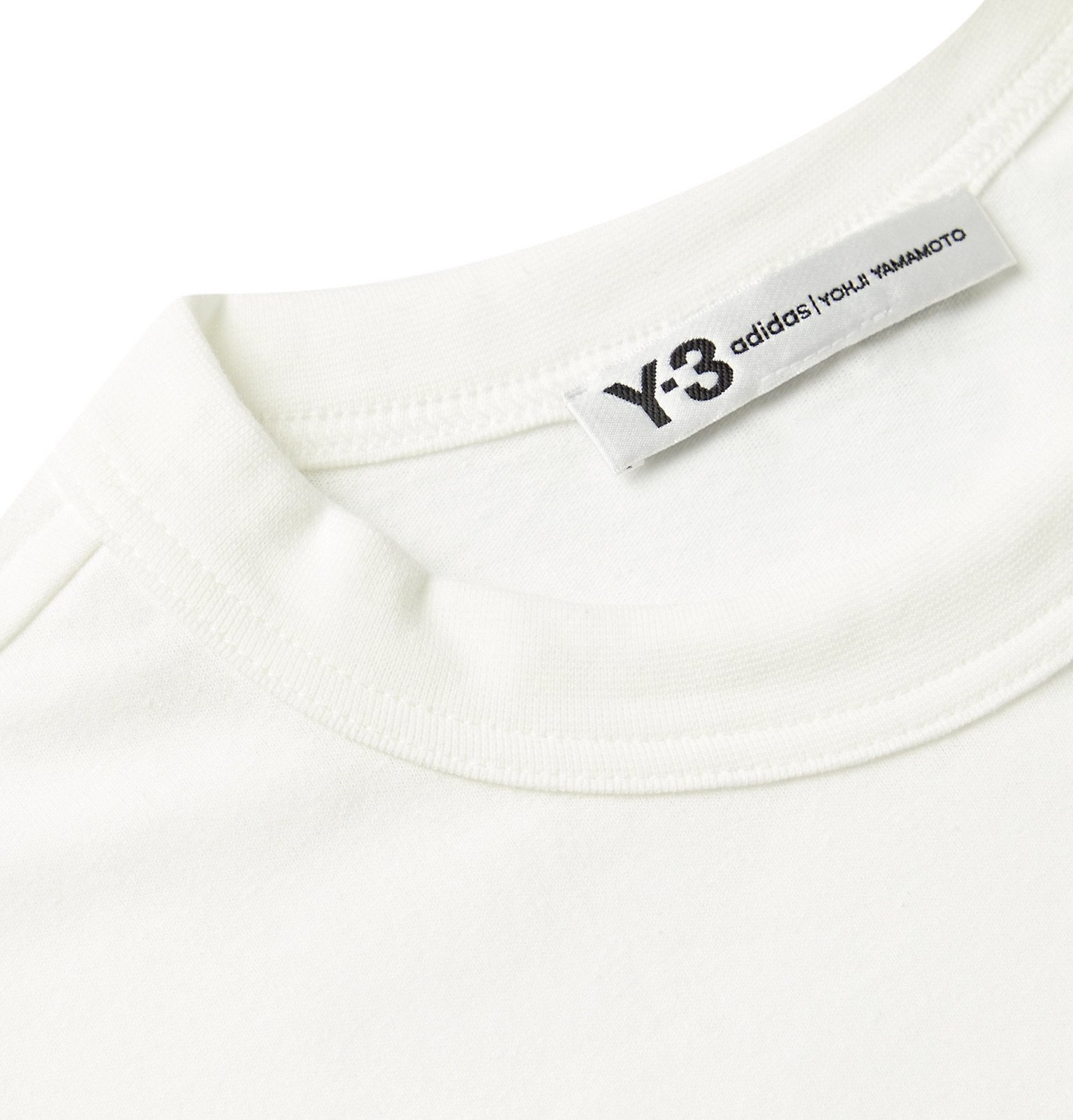 Y-3 - Printed Cotton-Jersey T-Shirt - White