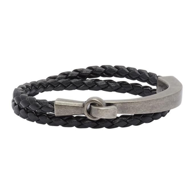 Photo: Saint Laurent Black Braided Bracelet