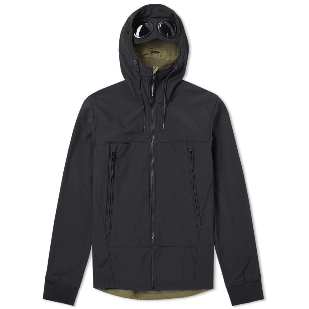 C.P. Company Soft Shell Goggle Jacket Navy & Olive
