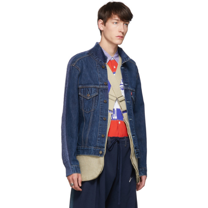 Bless Blue The Cristaseya Jeansfrontpatent Denim Jacket