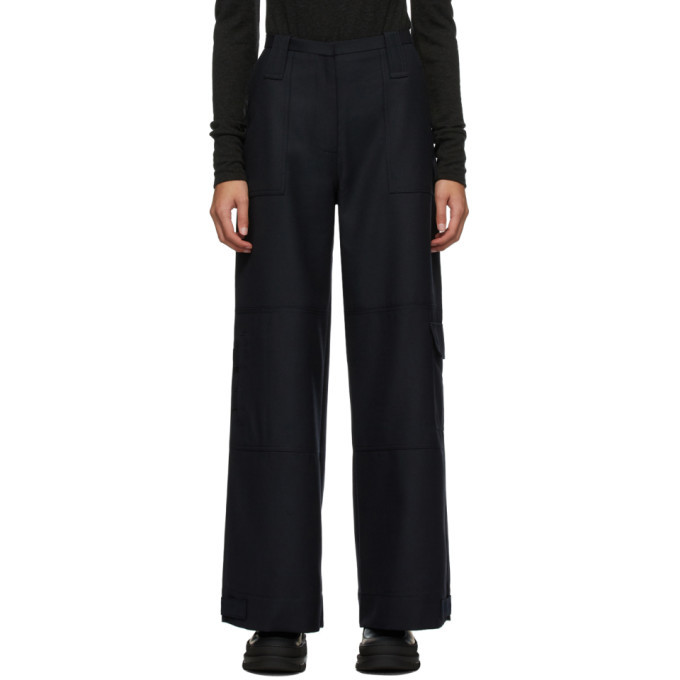 Photo: GANNI Navy Wool Suiting Trousers