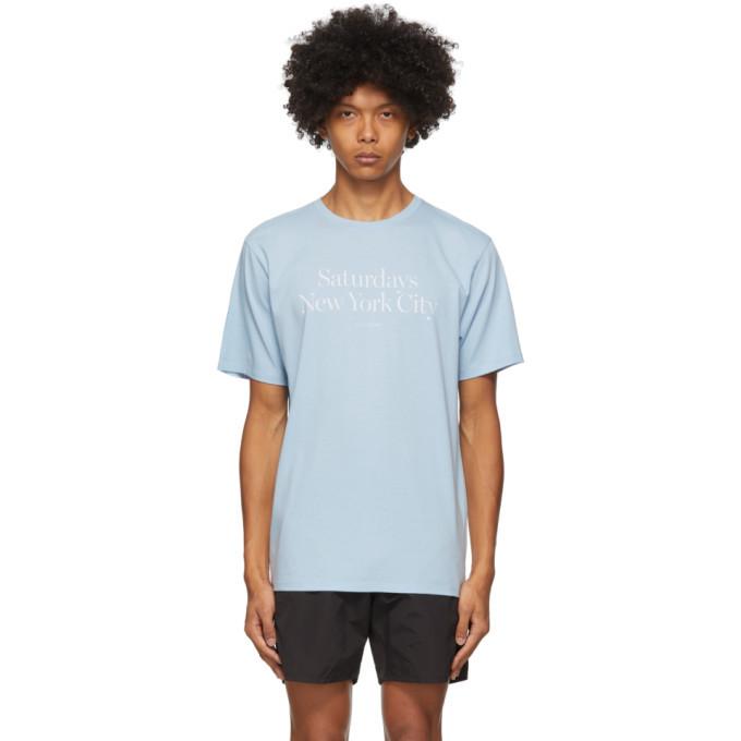 Photo: Saturdays NYC Blue Miller Standard T-Shirt
