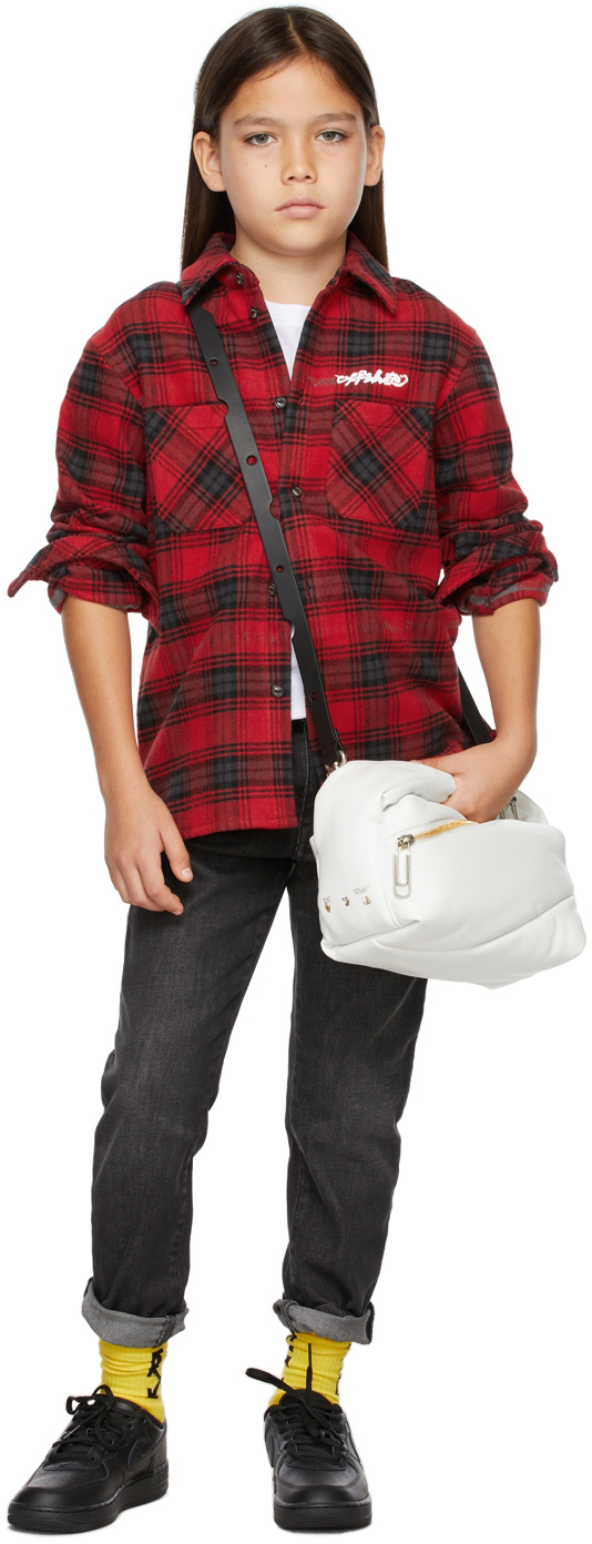 Photo: Off-White Kids Red Flannel Check Shirt