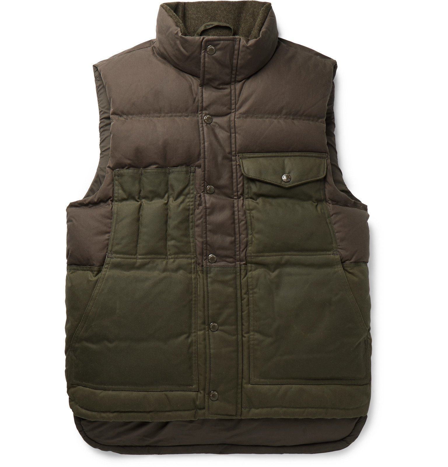 Filson - Cruiser Two-Tone Quilted Cotton Down Gilet - Green