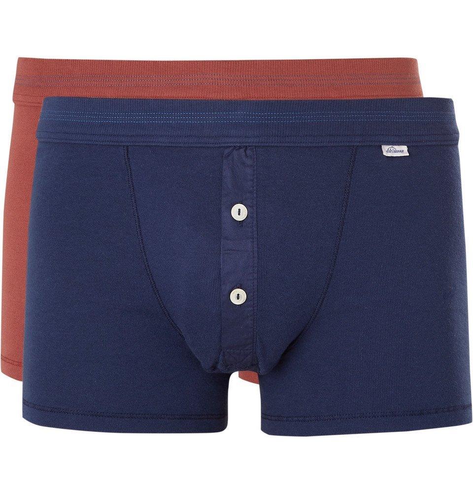 Schiesser - Karl Heinz Two-Pack Cotton-Jersey Boxer Briefs - Multi