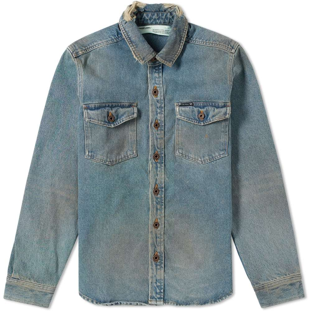 Photo: Off-White Vintage Denim Shirt Vintage Wash & Multi