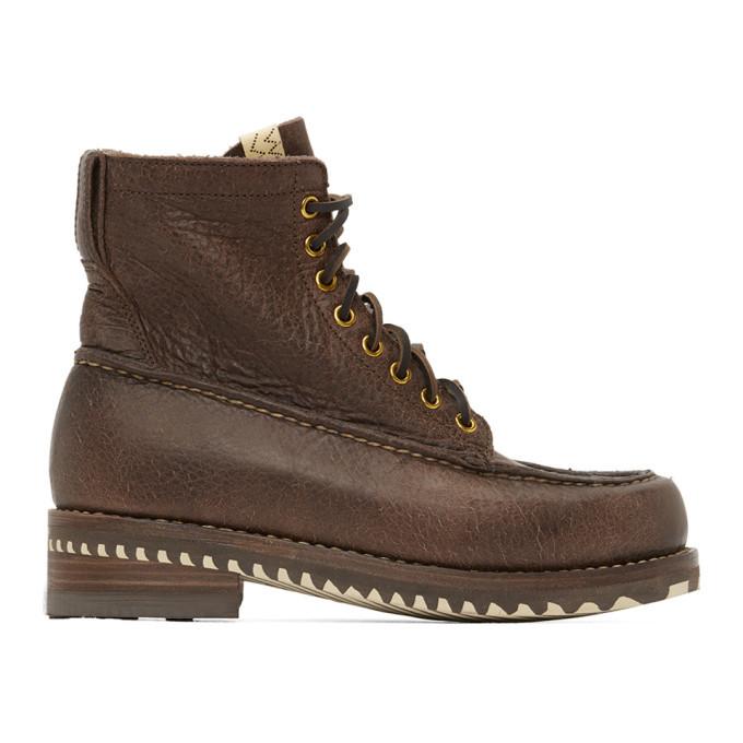 Photo: Visvim Brown Kainai Moc-Toe Folk Boots