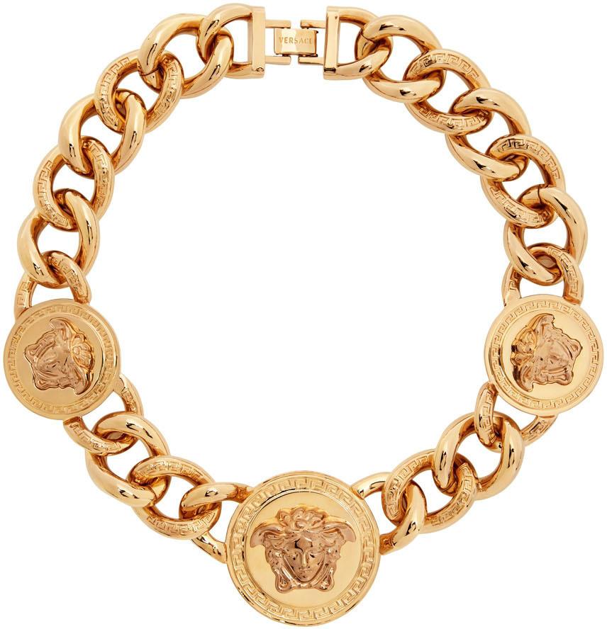 Photo: Versace Gold Medusa Chain Necklace