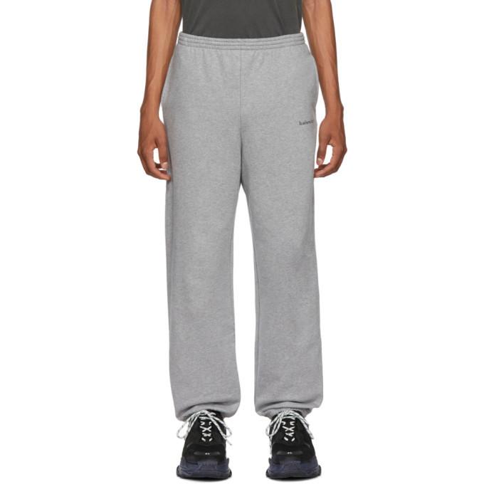 Photo: Balenciaga Grey Logo Lounge Pants