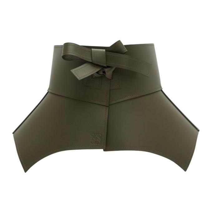 Photo: Loewe Khaki Leather Obi Belt