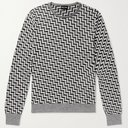 GIORGIO ARMANI - Intarsia Silk, Cashmere and Linen-Blend Sweater - Multi - IT 50