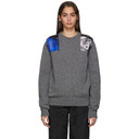 Raf Simons Grey Knit Patches Sweater