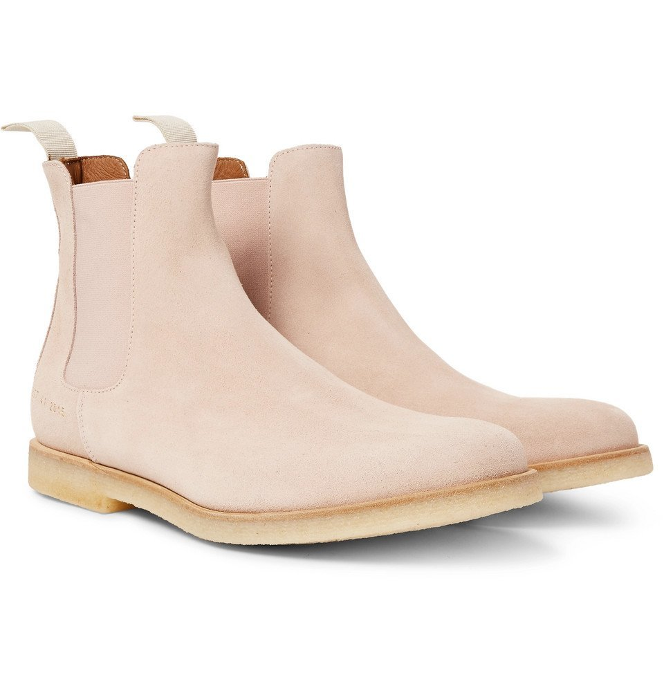 Photo: Common Projects - Suede Chelsea Boots - Men - Pink