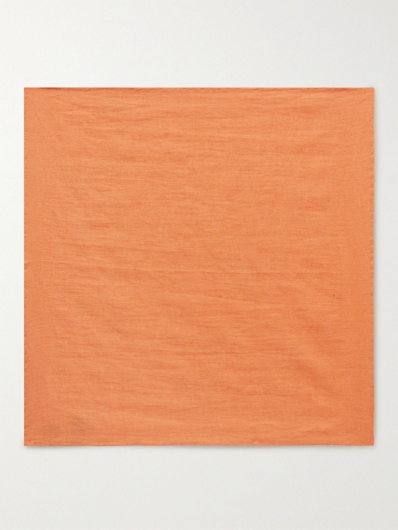 Photo: Anderson & Sheppard - Linen Pocket Square - Orange