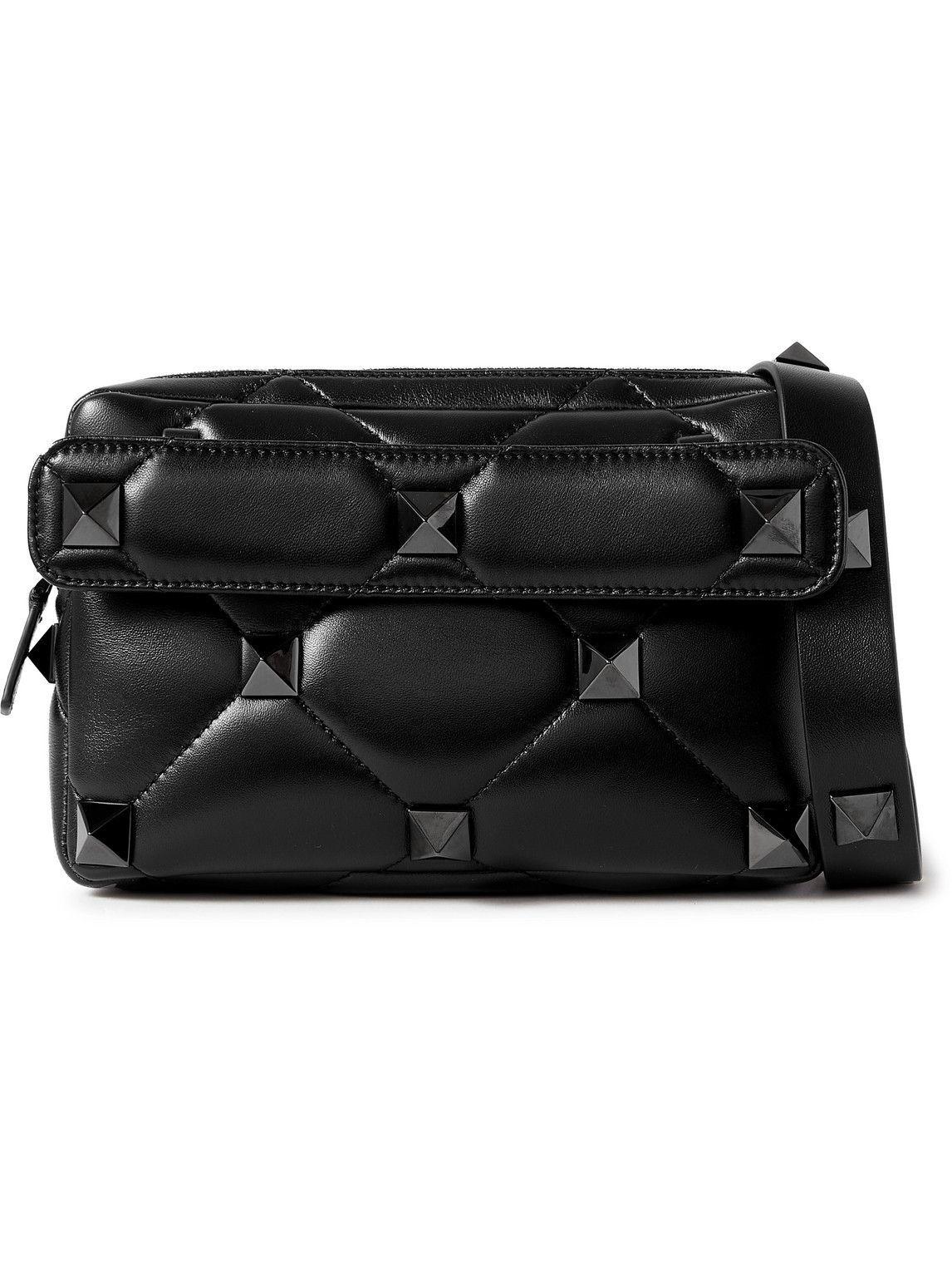 Photo: Valentino - Valentino Garavani Roman Stud Quilted Leather Messenger Bag