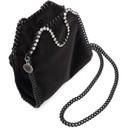 Stella McCartney Black Velvet Tiny Falabella Bag