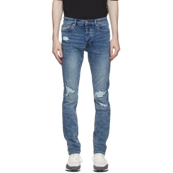 Ksubi Blue Chitch Runaway Ripped Jeans