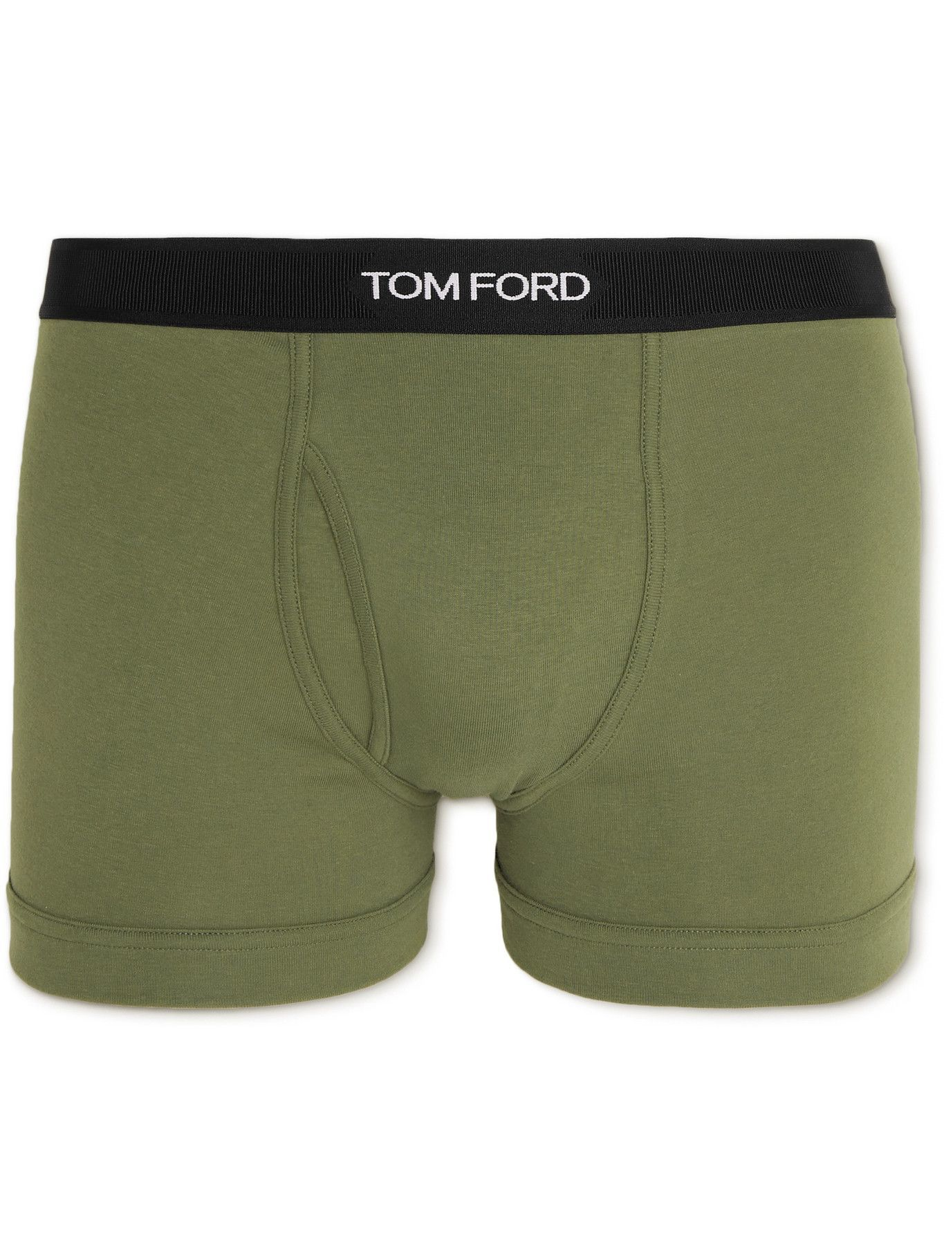 Photo: TOM FORD - Stretch-Cotton Boxer Briefs - Green
