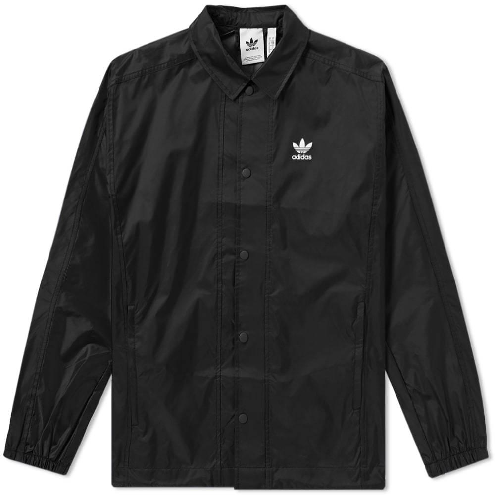 Adidas Trefoil Coach Jacket Black