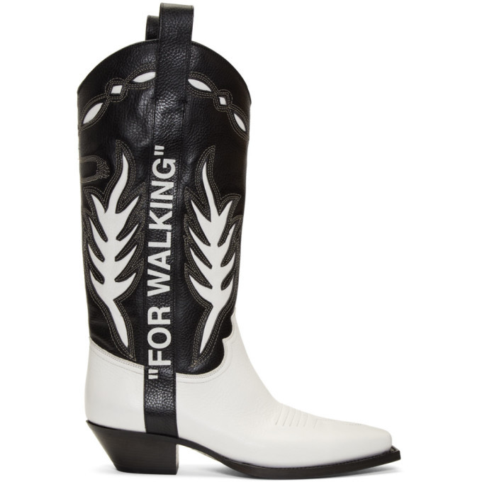 Photo: Off-White Black and White Cowboy Boots