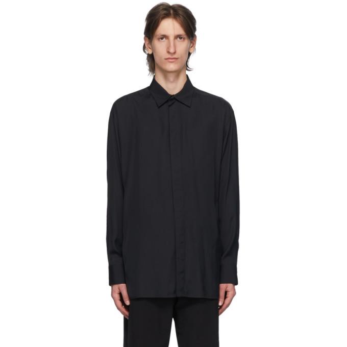 Photo: Bottega Veneta Black Poplin Shirt