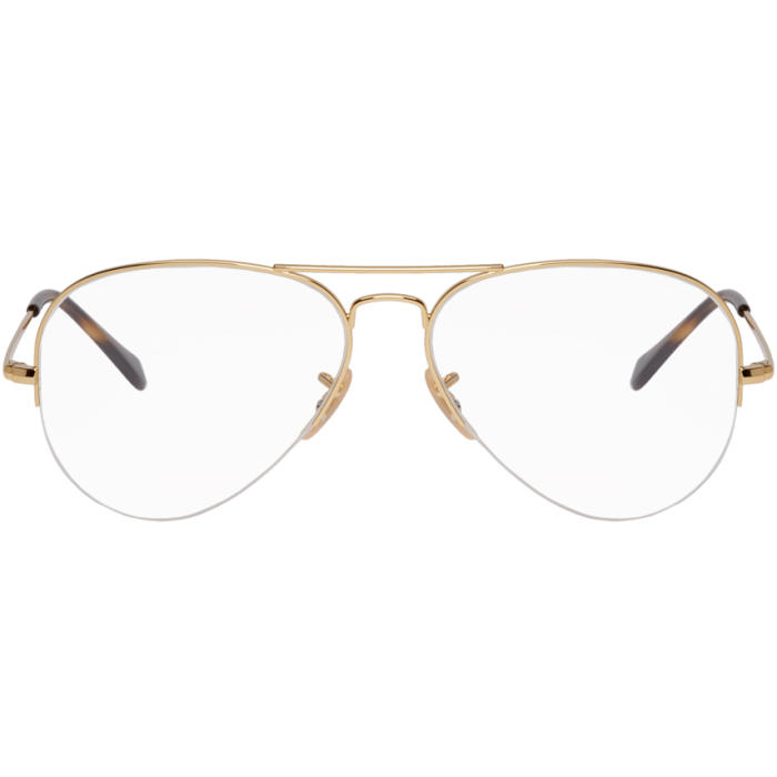 Photo: Ray-Ban Gold Gaze Aviator Glasses