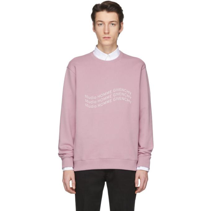 Photo: Givenchy Purple Logo Wave Sweatshirt