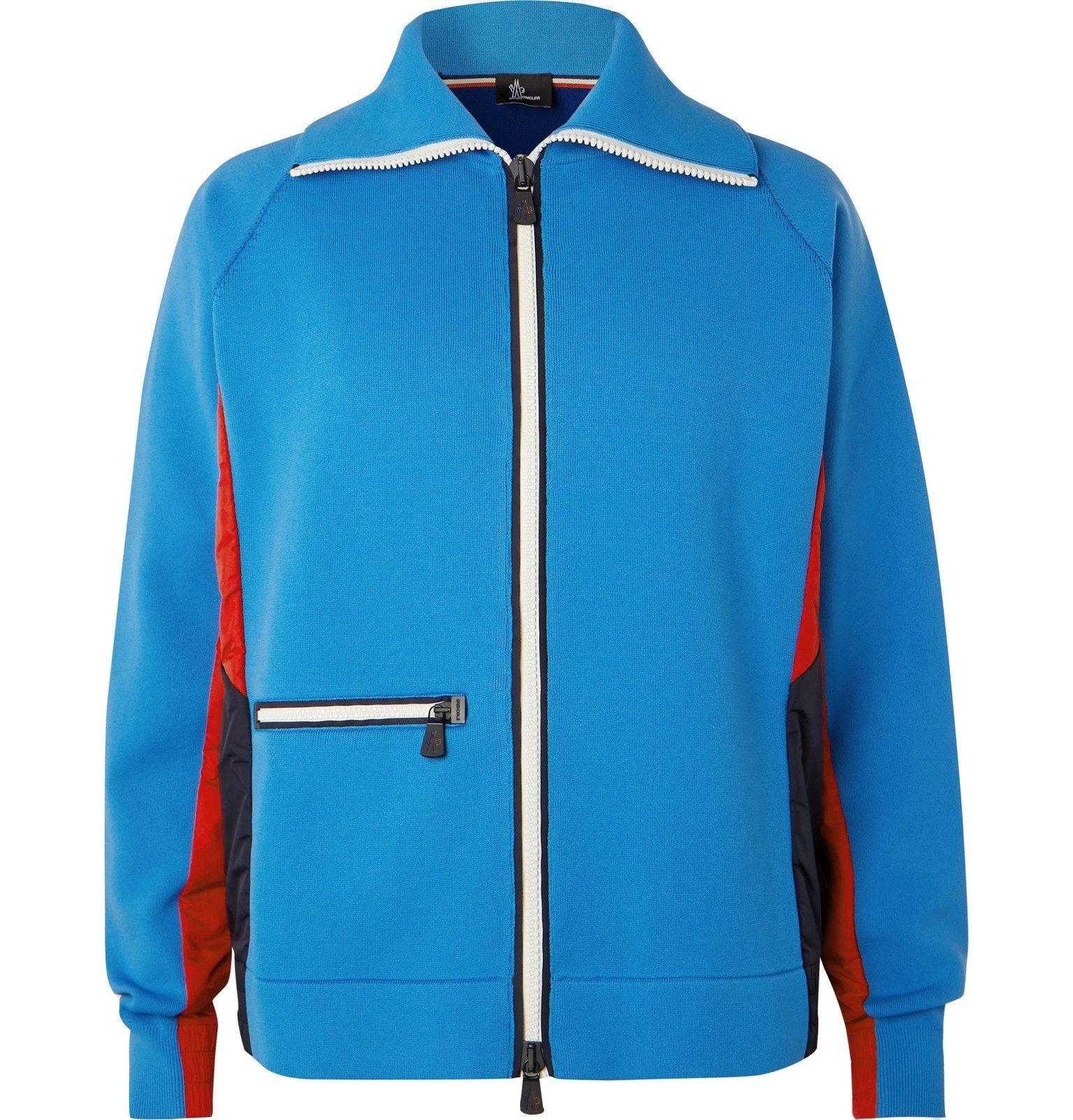 Photo: Moncler Grenoble - Tech-Jersey Zip-Up Ski Sweater - Blue