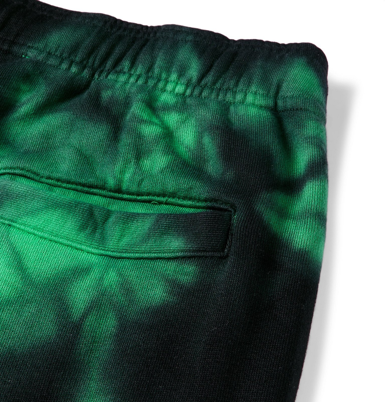 Off-White - Wide-Leg Tie-Dyed Loopback Cotton-Jersey Sweatpants - Green