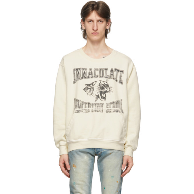 Photo: Rhude White Immaculate Conception Sweatshirt