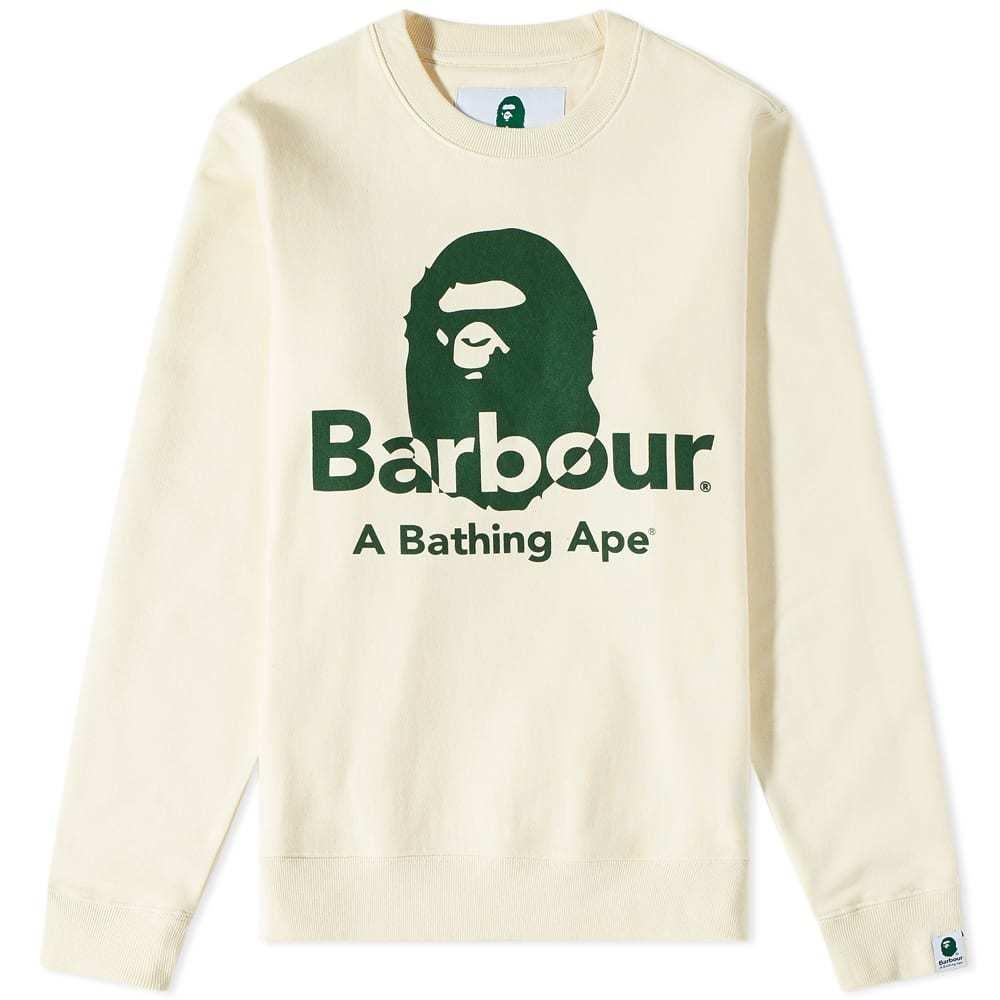 Photo: Barbour x A Bathing Ape Crew Sweat