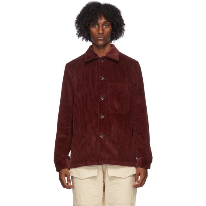 Photo: Barena Red Corduroy Overshirt Jacket