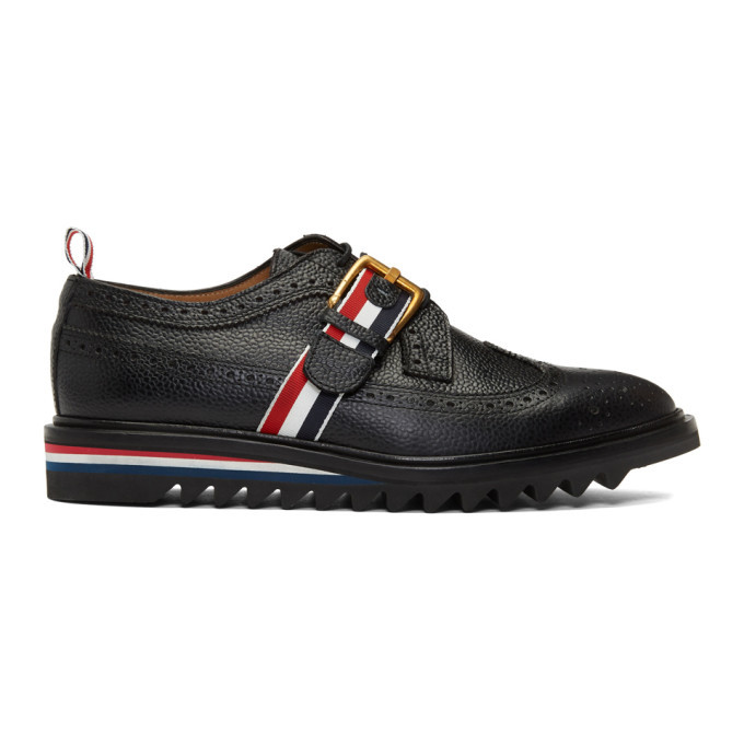 Photo: Thom Browne Black Webbing Strap Longwing Brogues