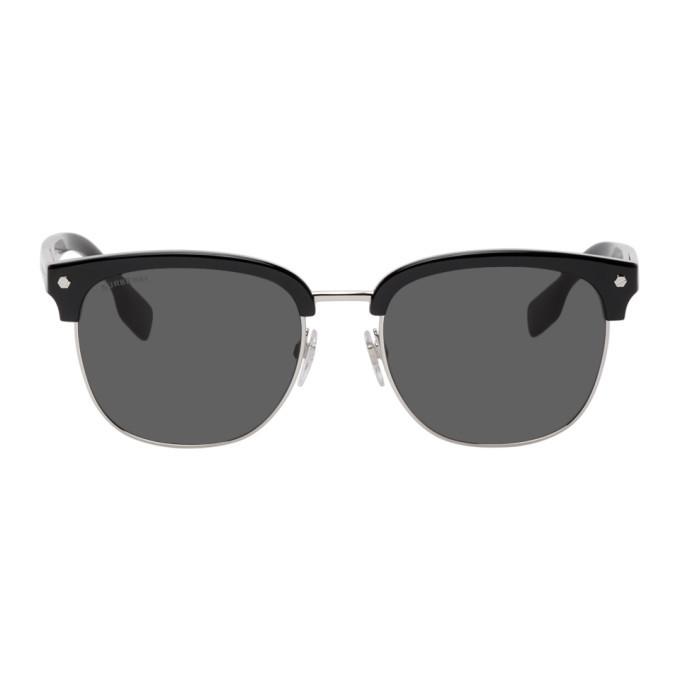 Photo: Burberry Black and Silver Square Sunglasses