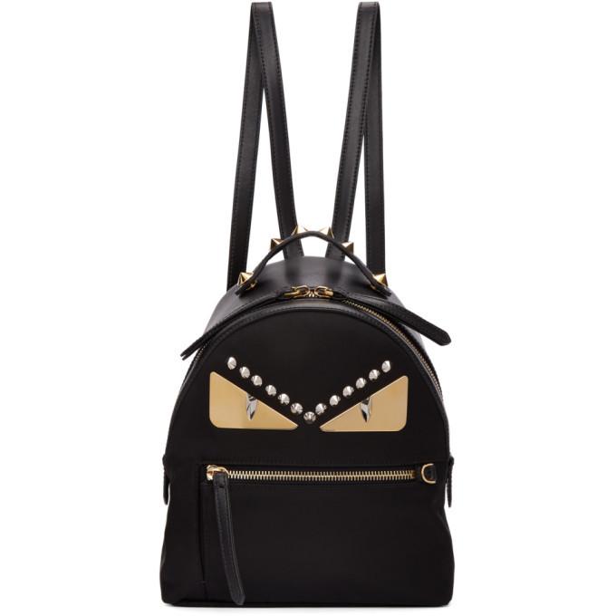 2231204f39 Fendi Black Mini Bag Bugs Zaino Backpack Fendi