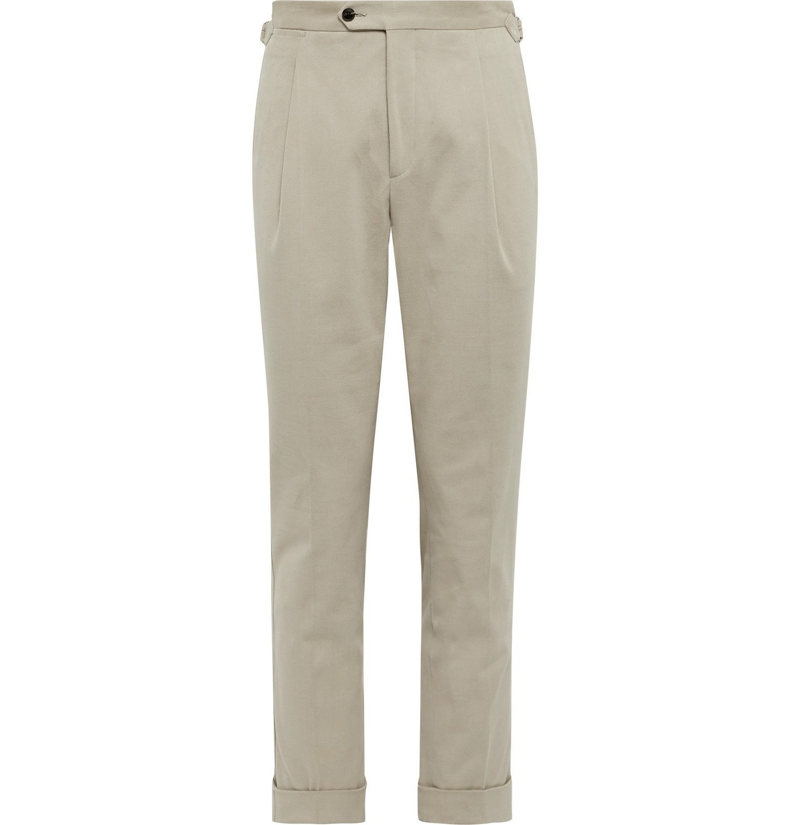 Saman Amel - Beige Pleated Wool-Twill Trousers - Neutrals