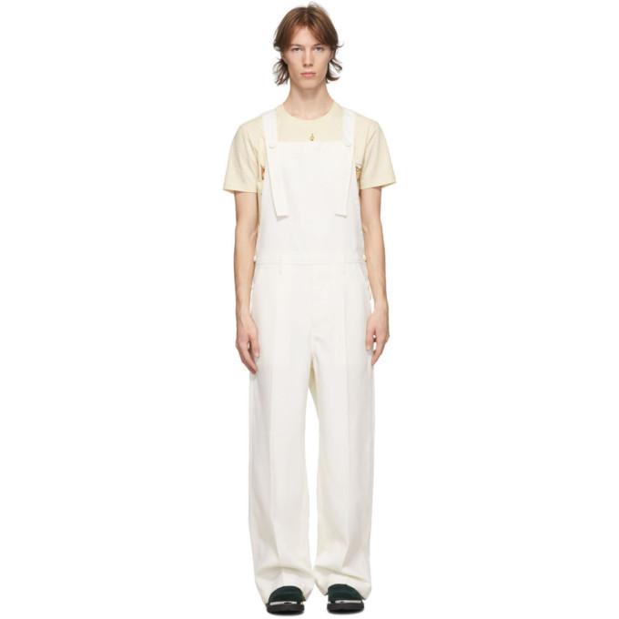 Photo: Lanvin White Wool Overalls