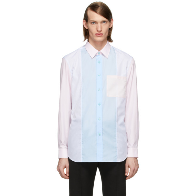 Photo: Burberry Pink and Blue Striped Chesterfield Shirt