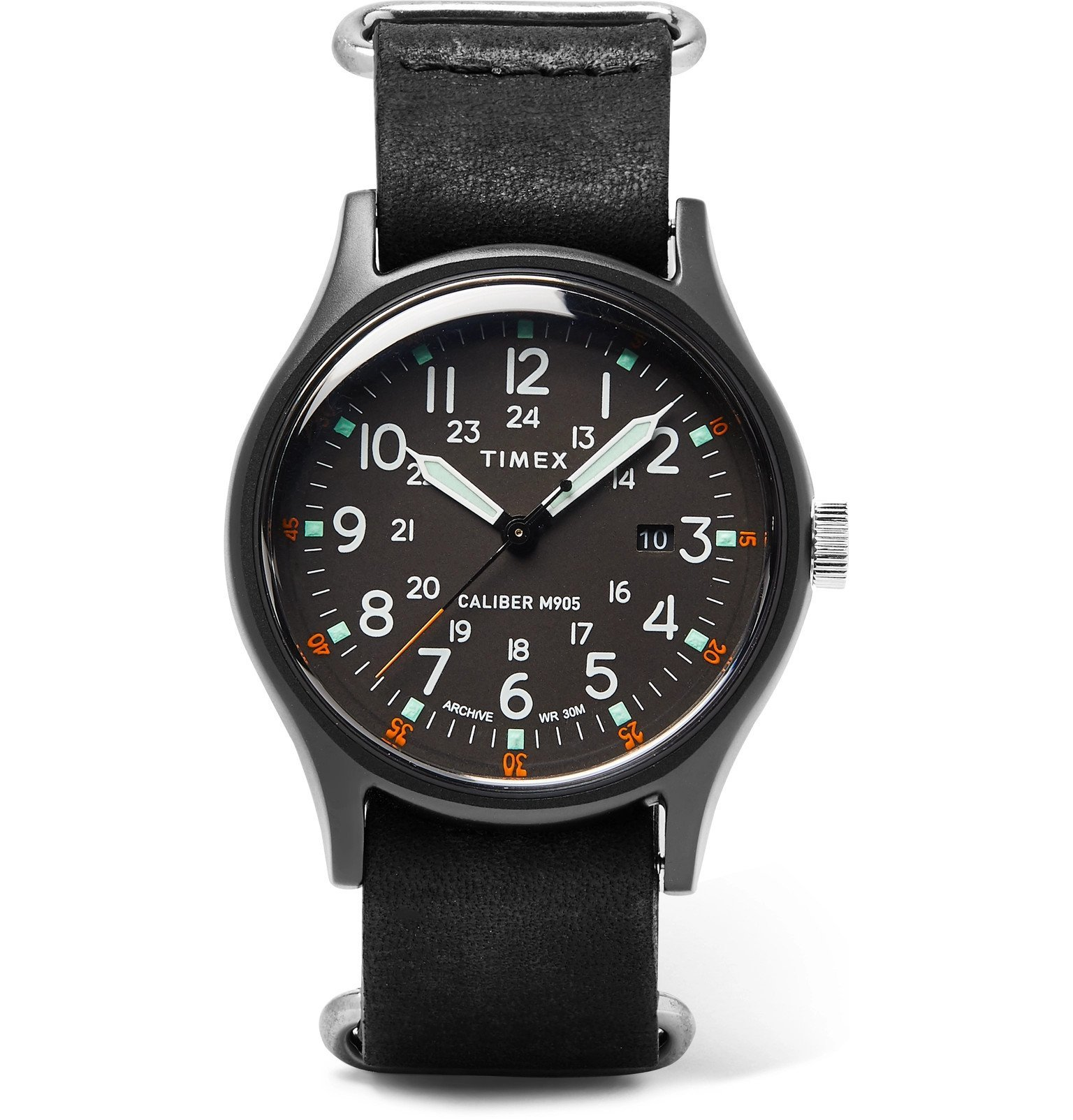 Photo: Timex - Camper MK1 40mm Stainless Steel and Leather Watch - Black