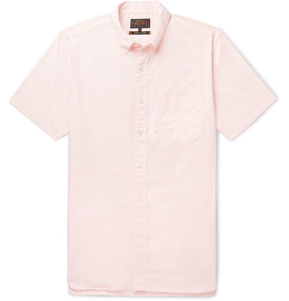 Photo: Beams Plus - Button-Down Collar Cotton Shirt - Pink