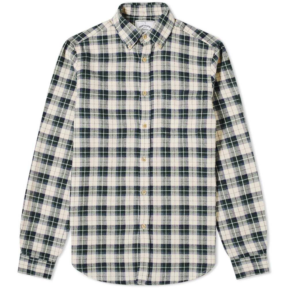 Photo: Portuguese Flannel Mentol Button Down Check Shirt