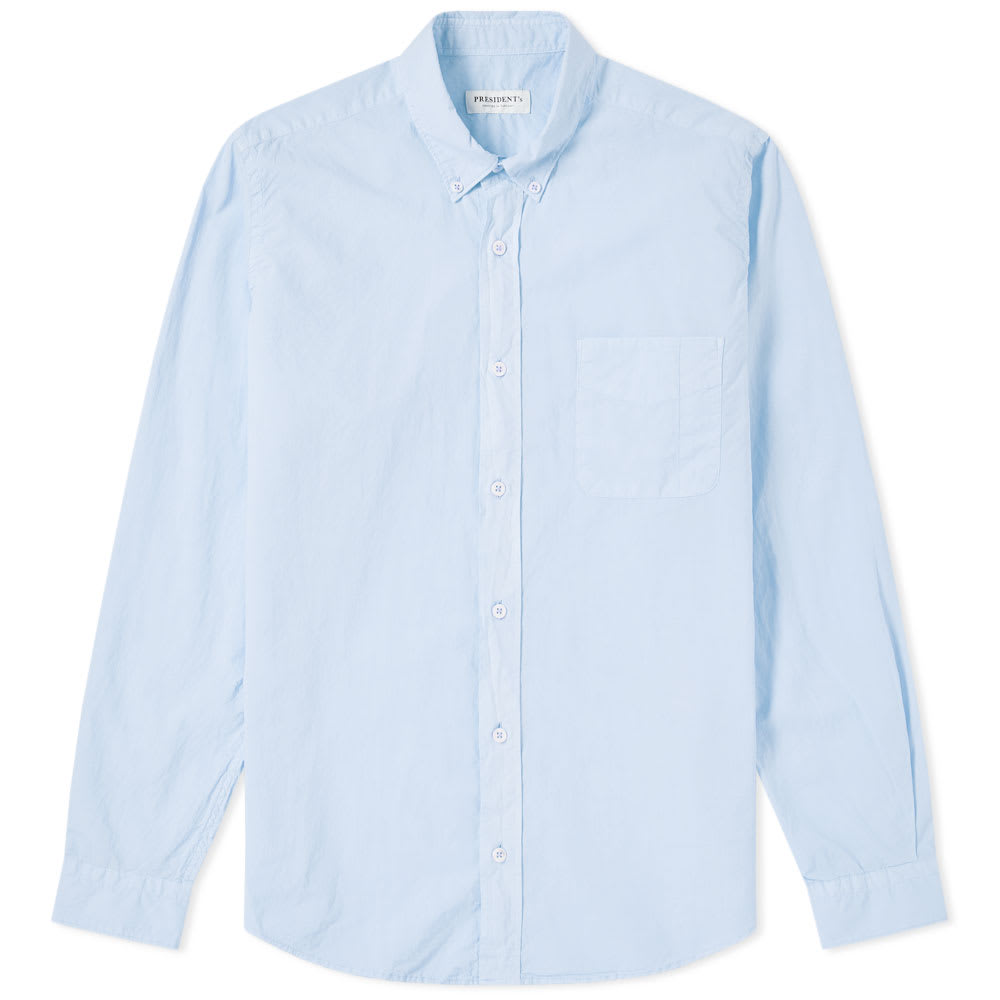 Photo: President's Chatham Poplin Shirt Blue