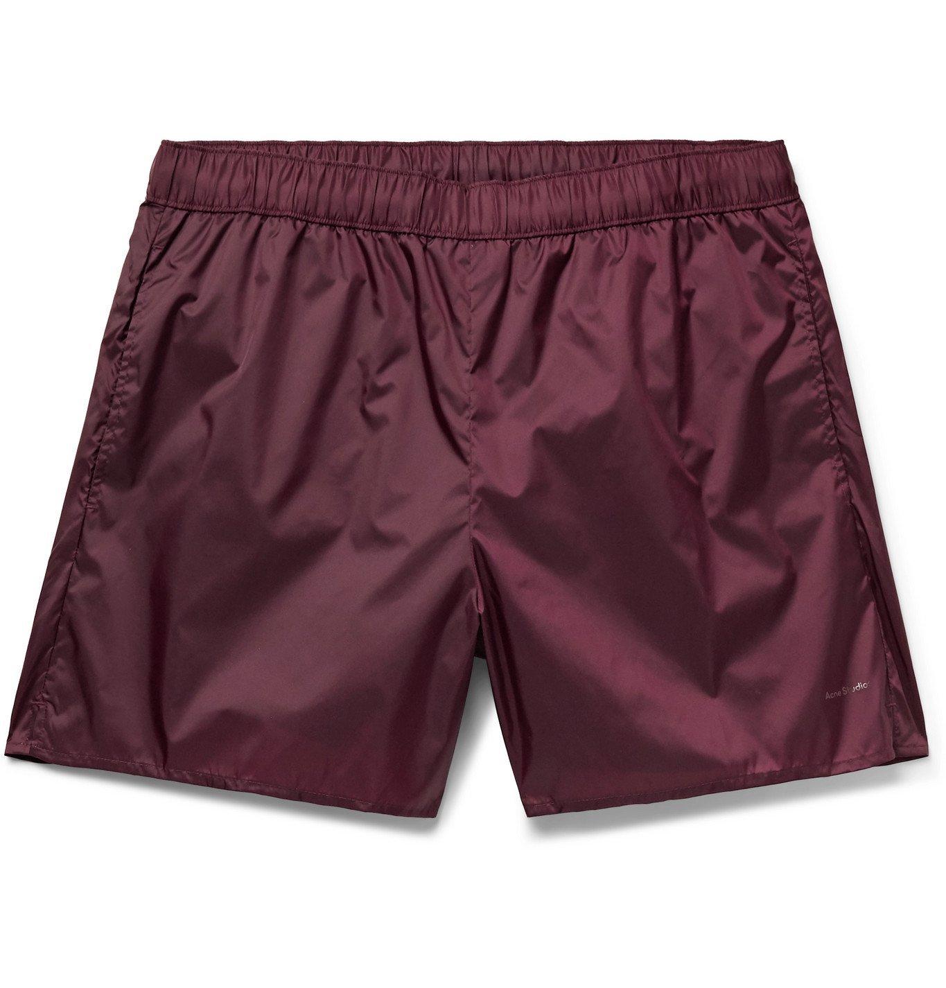 Acne Studios - Warrick Slim-Fit Mid-Length Swim Shorts - Burgundy