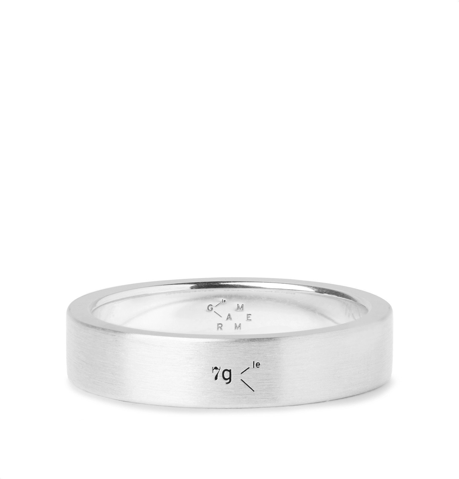 Photo: Le Gramme - Le 7 Brushed Sterling Silver Ring - Silver